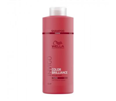 Wella Professionals Invigo Brilliance Шампунь для защиты цвета окрашенных жестких волос,