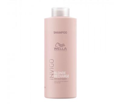 Wella Professionals Invigo Blonde Recharge Шампунь-нейтрализатор желтизны для холодных светлых оттенков,